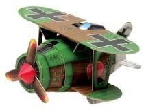 Maqueta 3D del avión Albatros. Maqueta infantil. Manualidades a Raudales.