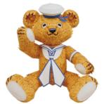 Papercraft imprimible y armable de un Osito de peluche de marinero / Amerigo teddy bear. Manualidades a Raudales.