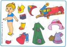 Paper dolls / Recortable muñeca 30. Manualidades a Raudales.