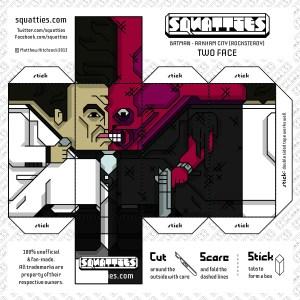 Papercraft de Two Face, personaje de Batman. Manualidades a Raudales.