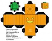Cubeecraft de Halloween. Manualidades a Raudales.