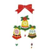 Papercraft imprimible y armable de un adorno de campanas. Manualidades a Raudales.