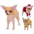 Papercraft de un Chihuahua. Manualidades a Raudales.