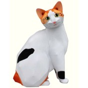 Papercraft imprimible y armable del Gato Bobtail Japones. Manualidades a Raudales.