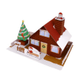 Papercraft de una Casa navideña. Manualidades a Raudales.