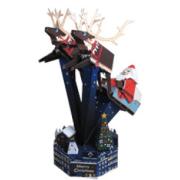 Papercraft de Papa Noel surcando el cielo. Manualidades a Raudales.