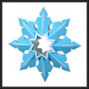 Papercraft imprimible y armable de un adorno de cristal de nieve 2. Manualidades a Raudales.