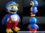 Papercraft de Super Mario de pingüino. Manualidades a Raudales.
