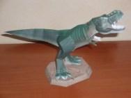 Paprecraft del Tirannosaurus Rex. Manualidades a Raudales.