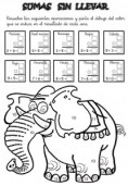 Colorear con sumas 18. Manualidades a Raudales.