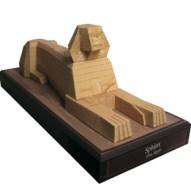 Papercraft building imprimible y armable de la Esfinge de Egipto. Manualidades a Raudales.