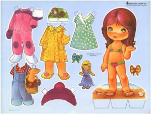 Paper dolls / Recortable de muñecas 25. Manualidades a Raudales.