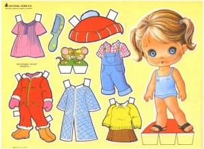 Paper dolls / Recortable de muñecas 28. Manualidades a Raudales.