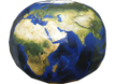 Papercraft del Planeta Tierra. Manualidades a Raudales.