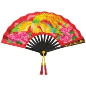 Papercraft imprimible y armable de un abanico chino. Manualidades a Raudales.