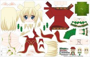 Papercraft de Anime - Alleyne. Manualidades a Raudales.