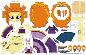 Papercraft de Anime - Adagio Dazzle. Manualidades a Raudales.