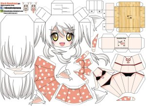Papercraft de Anime - Black Hanekawa. Manualidades a Raudales.