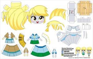 Papercraft de Anime - Derpy Equestria Girls. Manualidades a Raudales.