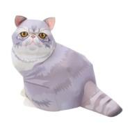Papercraft imprimible y armable de un Gato exótico de pelo corto / Exotic shorthair cat. Manualidades a Raudales.