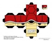 Cubeecraft de Nintendo de la  tortuga roja. Manualidades a Raudales.