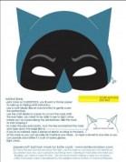 Mascara de Batman. Manualidades a Raudales.