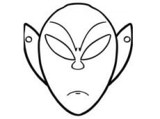 Máscara de extraterrestre. Manualidades a Raudales.