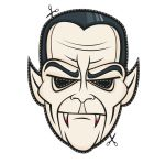 Máscara Halloween de drácula 4. Manualidades a Raudales.