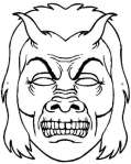 Máscara para Halloween de un monstruo. Manualidades a Raudales.