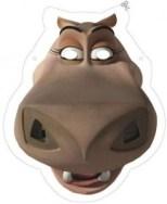Máscara hipopótamo. Manualidades a Raudales.