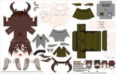 Papercraft de Anime - Gertrud Barkhorn. Manualidades a Raudales.