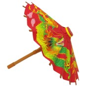 Papercraft imprimible y armable de un paraguas chino. Manualidades a Raudales.
