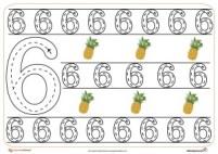 Grafomotricidad del número 6.