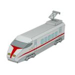 Papercraft imprimible y armable de un Tren expreso (locomotora) / Express train (front car). Manualidades a Raudales.