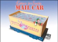 Papercraft imprimible y armable del vagón con las cartas para Santa Claus. Manualidades a Raudales.