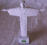 Papercraft imprimible y armable del Cristo Redentor en Brasil. Manualidades a Raudales.