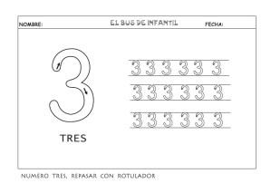Ficha de Grafomotricidad del número 2. Manualidades a Raudales.