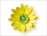 Papercraft recortable de la flor Adonis. Manualidades a Raudales.