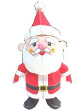 Papercraft imprimible y armable de Santa Claus. Manualidades a Raudales