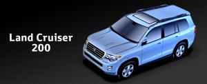 Papercraft imprimible y recortable del coche Toyota Land Cruiser 200. Manualidades a Raudales.