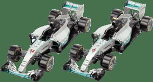 Papercrat de un F1 Mercedes. Manualidades a Raudales.