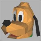 Papercraft de Pluto perro de Mickey Mouse de Disney. Manualidades a Raudales.