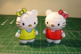 Papercraft imprimible y recortable de Hello Kitty. Manualidades a Raudales.