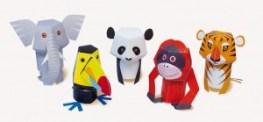 Marionetas infantiles recortar y armar para dedos de animales. Manualidades a Raudales.