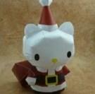 Papercraft imprimible y recortable de Hello Kitty disfrazada de Santa Claus. Manualidades a Raudales.