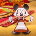 Papercraft recortable de Minnie de thanksgiving. Manualidades a Raudales.
