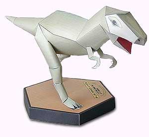 Papercraft de un Tyrannosaurus Rex. Manualidades a Raudales.
