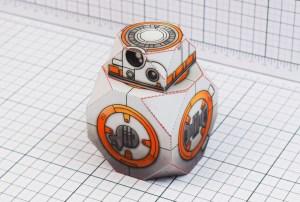 Papercraft imprimible y armable de BB-8 Droid de Star Wars. Manualidades a Raudales.