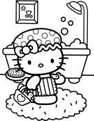 Dibujo para colorear de Hello Kitty. Manualidades a Raudales.