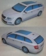 Papercraft del coche Skoda Superb Combi 2009. Manualidades a Raudales.